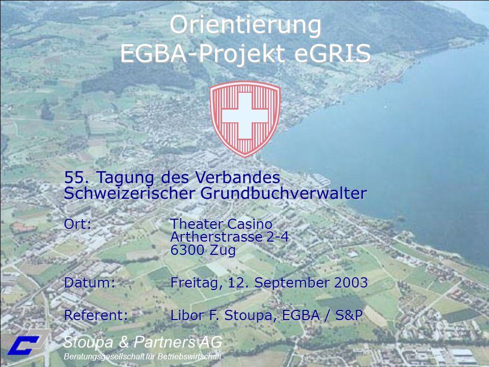 55. Tagung des Verbandes Schweizerischer Grundbuchverwalter Ort:Theater Casino Artherstrasse 2-4 6300 Zug Datum:Freitag, 12. September 2003 Referent:L