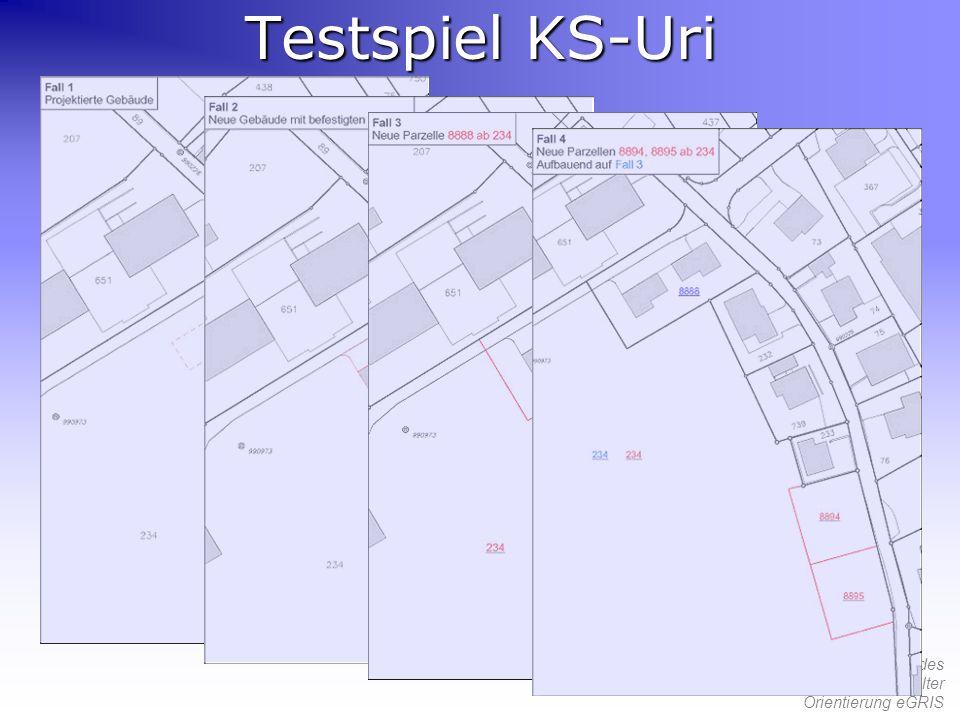 55. Tagung des Verbandes Schweizerischer Grundbuchverwalter Orientierung eGRIS Testspiel KS-Uri