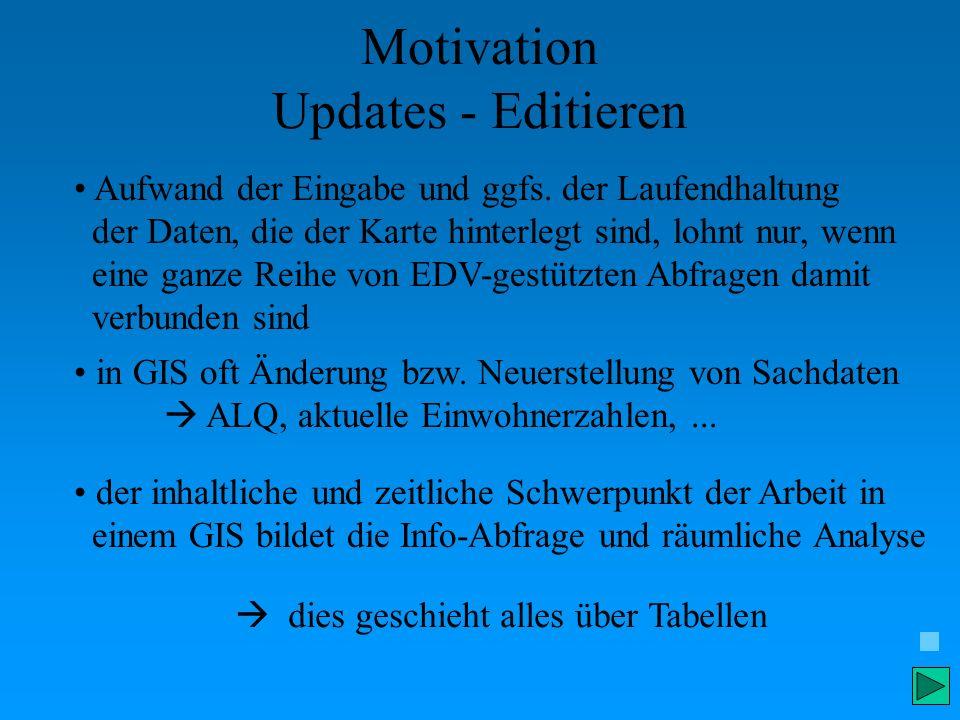 Motivation Updates - Editieren Aufwand der Eingabe und ggfs. der Laufendhaltung der Daten, die der Karte hinterlegt sind, lohnt nur, wenn eine ganze R