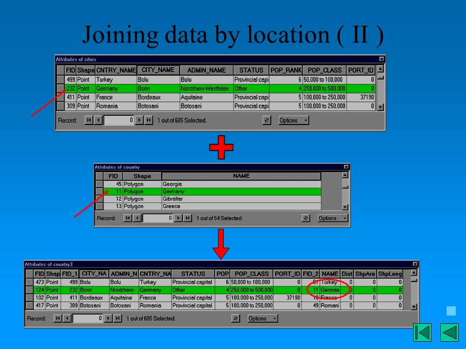 Joining data by location ( II )