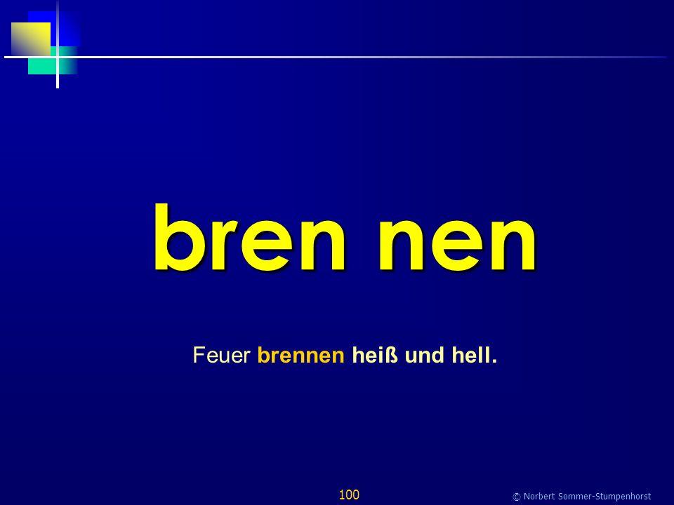 100 © Norbert Sommer-Stumpenhorst bren nen Feuer brennen heiß und hell.