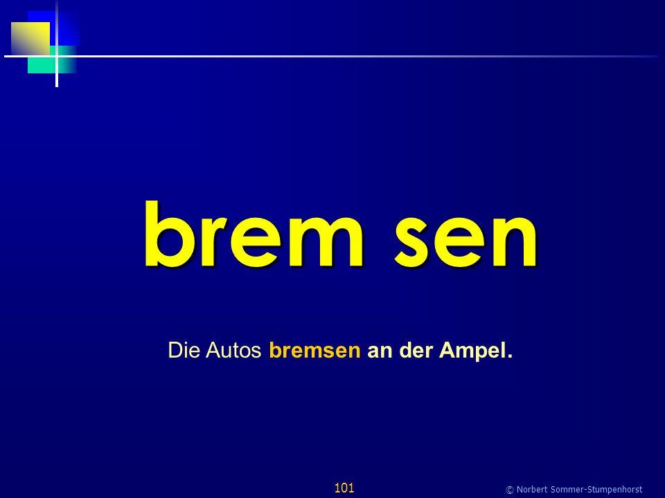 101 © Norbert Sommer-Stumpenhorst brem sen Die Autos bremsen an der Ampel.