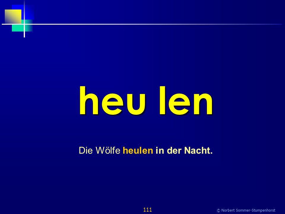 111 © Norbert Sommer-Stumpenhorst heu len Die Wölfe heulen in der Nacht.