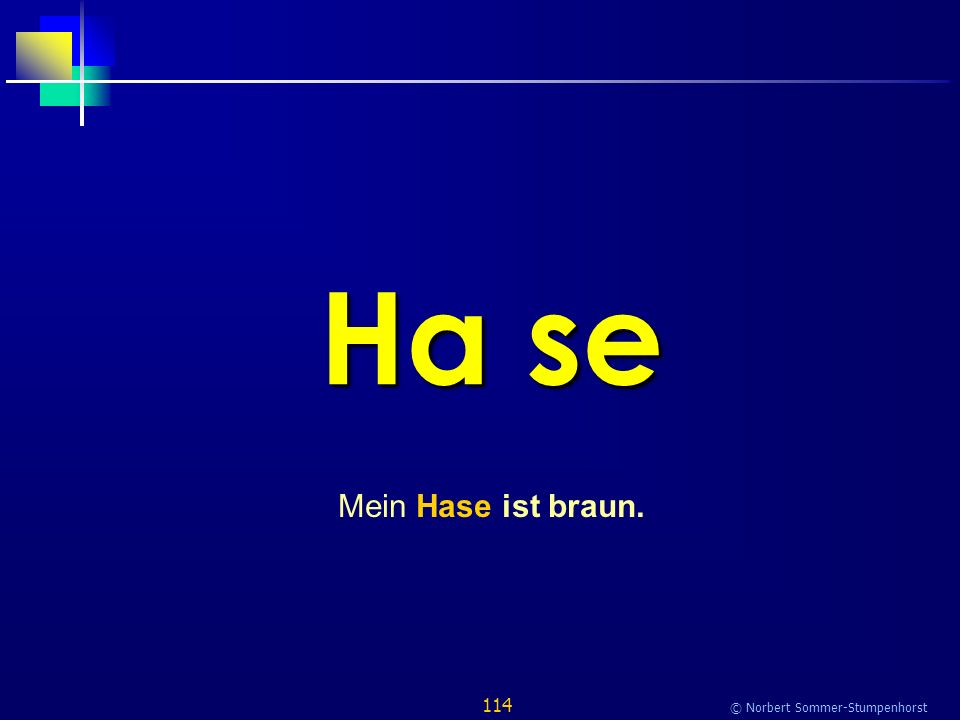 114 © Norbert Sommer-Stumpenhorst Ha se Mein Hase ist braun.