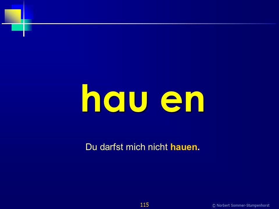 115 © Norbert Sommer-Stumpenhorst hau en Du darfst mich nicht hauen.