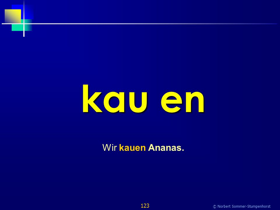 123 © Norbert Sommer-Stumpenhorst kau en Wir kauen Ananas.