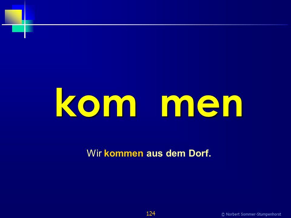 124 © Norbert Sommer-Stumpenhorst kom men Wir kommen aus dem Dorf.