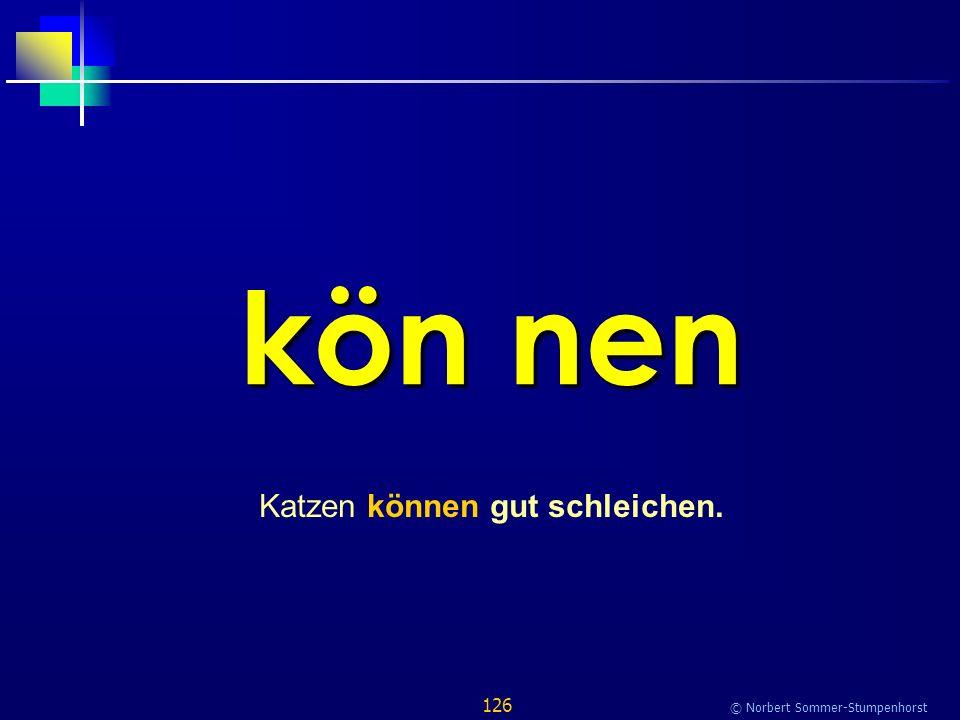 126 © Norbert Sommer-Stumpenhorst kön nen Katzen können gut schleichen.