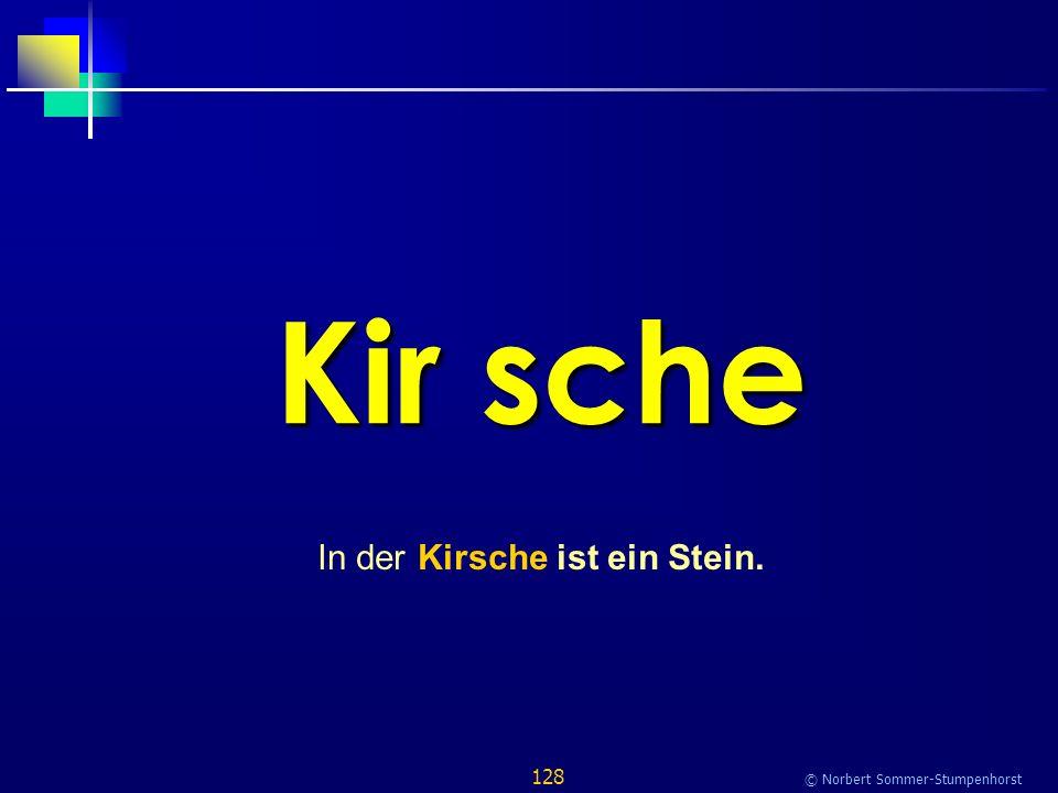 128 © Norbert Sommer-Stumpenhorst Kir sche In der Kirsche ist ein Stein.