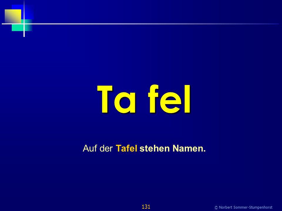 131 © Norbert Sommer-Stumpenhorst Ta fel Auf der Tafel stehen Namen.