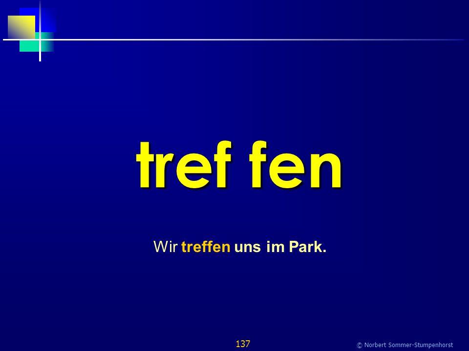 137 © Norbert Sommer-Stumpenhorst tref fen Wir treffen uns im Park.