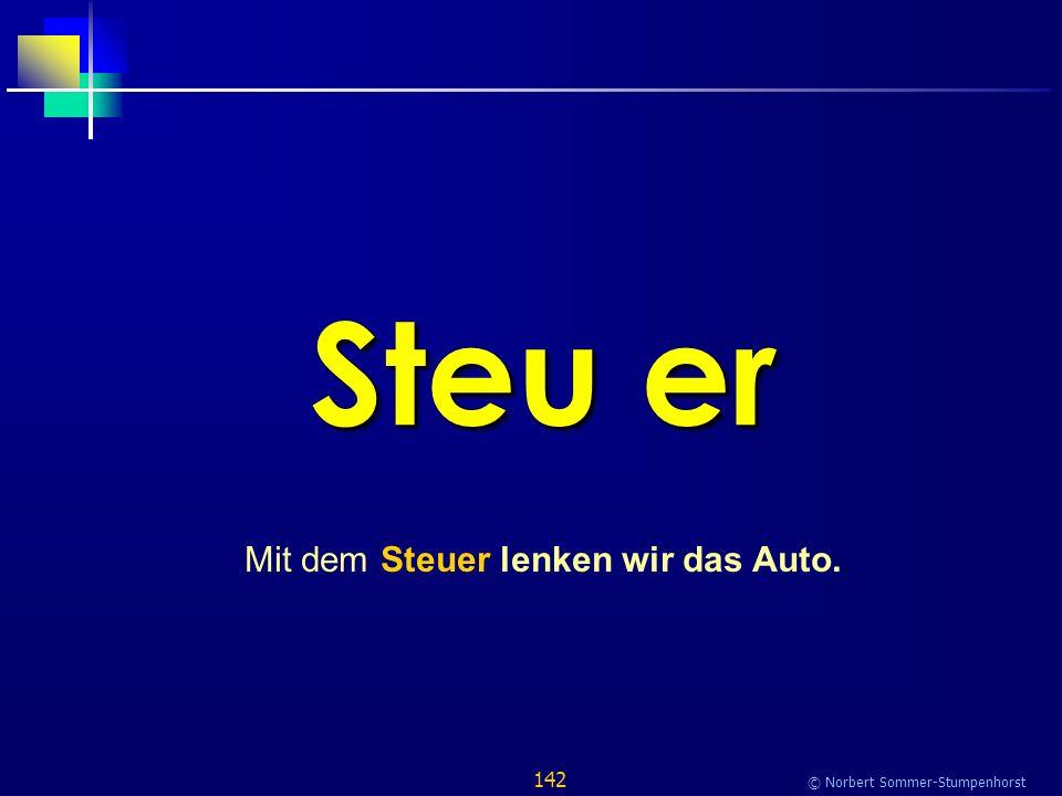 142 © Norbert Sommer-Stumpenhorst Steu er Mit dem Steuer lenken wir das Auto.