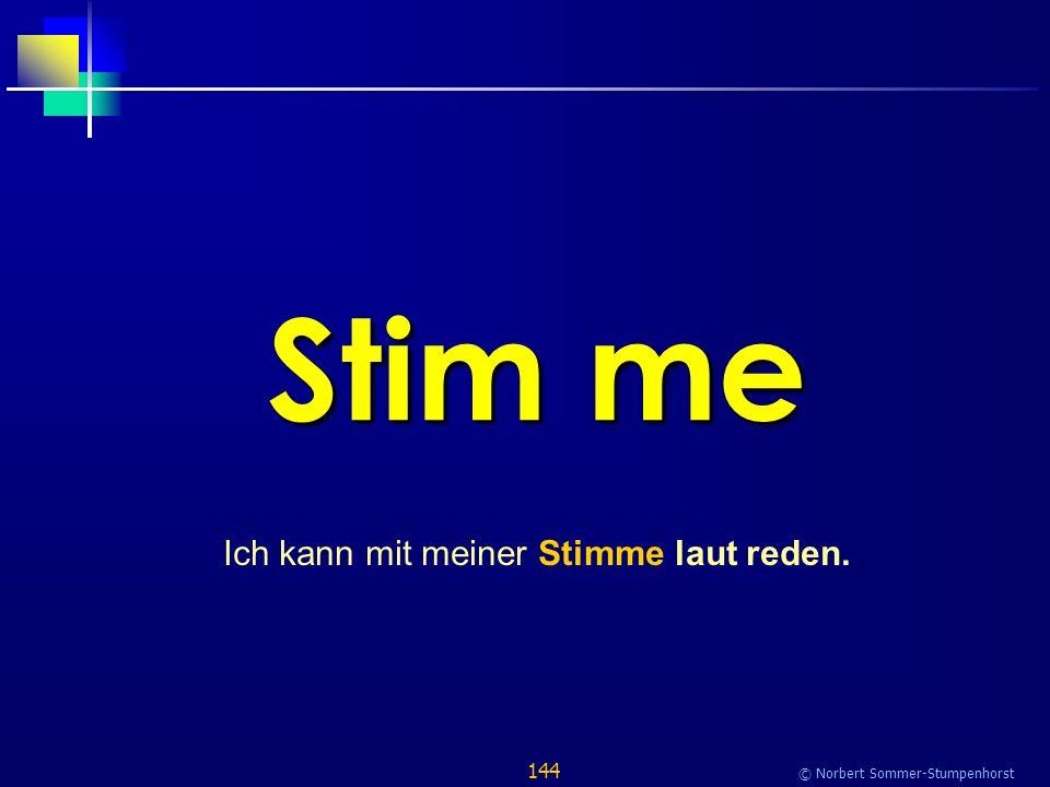 144 © Norbert Sommer-Stumpenhorst Stim me Ich kann mit meiner Stimme laut reden.