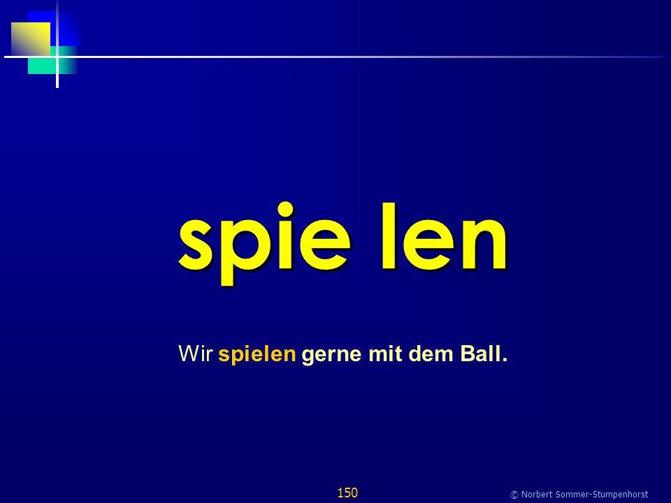 150 © Norbert Sommer-Stumpenhorst spie len Wir spielen gerne mit dem Ball.