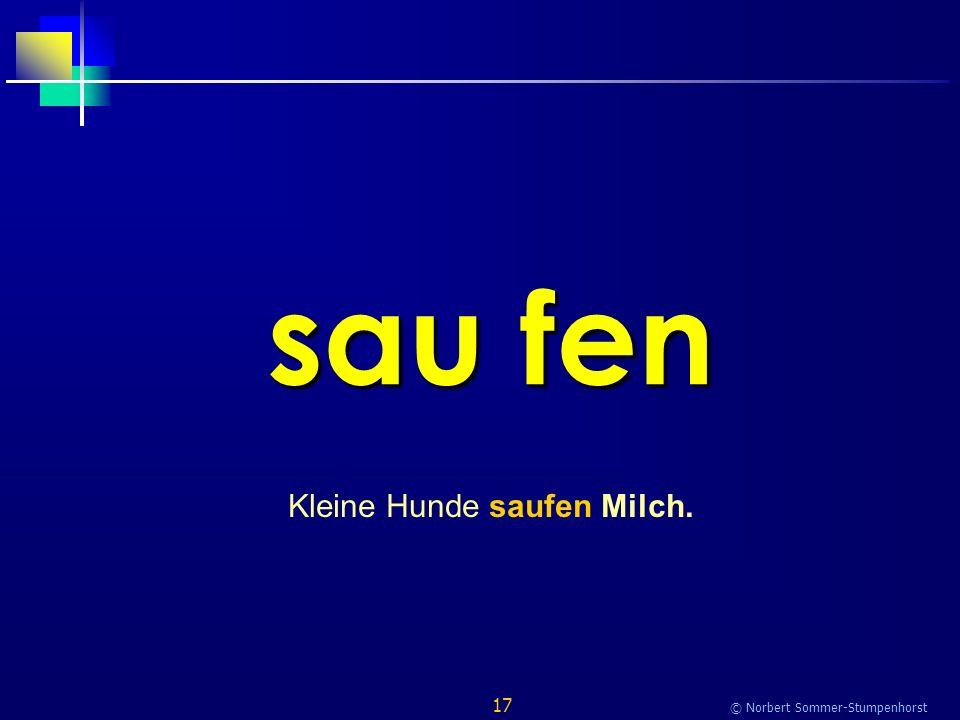 17 © Norbert Sommer-Stumpenhorst sau fen Kleine Hunde saufen Milch.