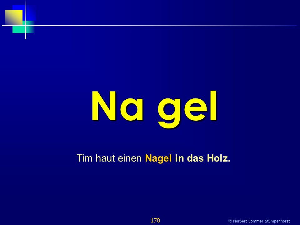 170 © Norbert Sommer-Stumpenhorst Na gel Tim haut einen Nagel in das Holz.