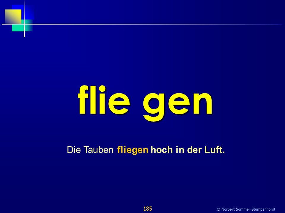 185 © Norbert Sommer-Stumpenhorst flie gen Die Tauben fliegen hoch in der Luft.
