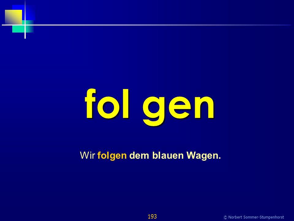 193 © Norbert Sommer-Stumpenhorst fol gen Wir folgen dem blauen Wagen.