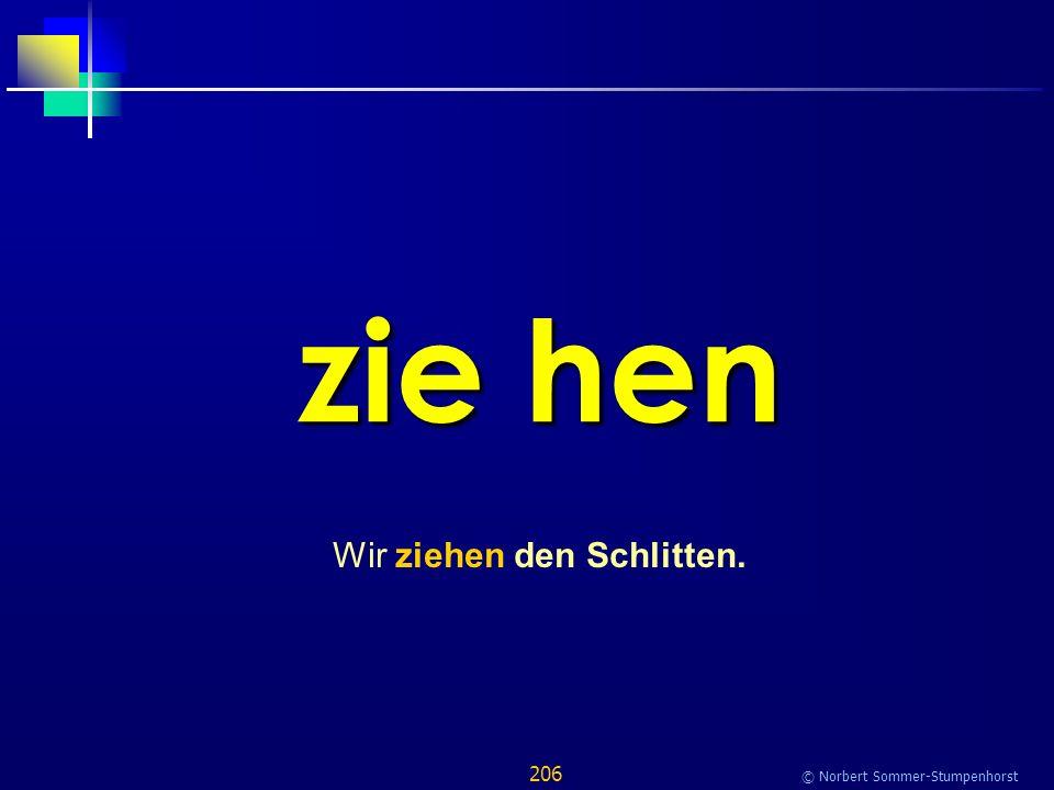 206 © Norbert Sommer-Stumpenhorst zie hen Wir ziehen den Schlitten.