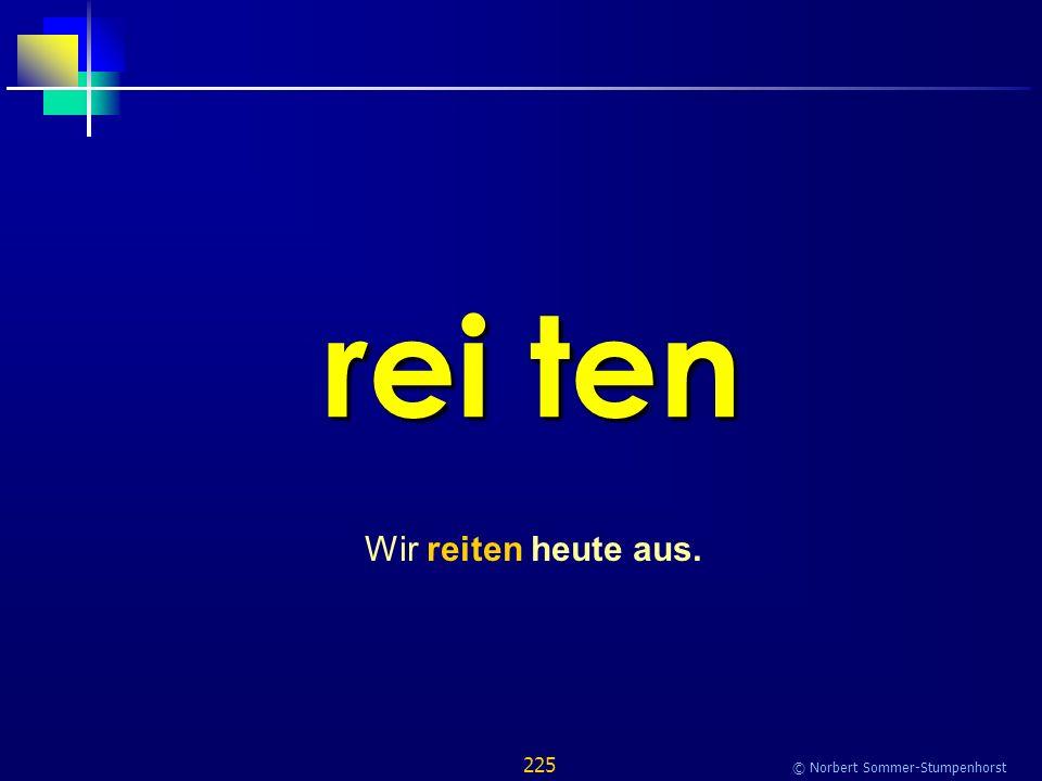 225 © Norbert Sommer-Stumpenhorst rei ten Wir reiten heute aus.