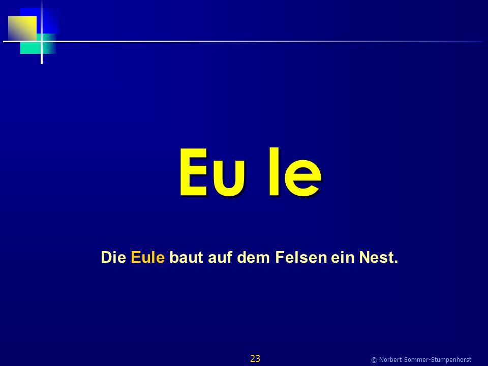 23 © Norbert Sommer-Stumpenhorst Eu le Die Eule baut auf dem Felsen ein Nest.