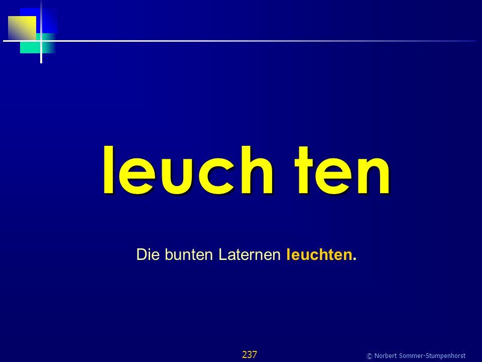 237 © Norbert Sommer-Stumpenhorst leuch ten Die bunten Laternen leuchten.