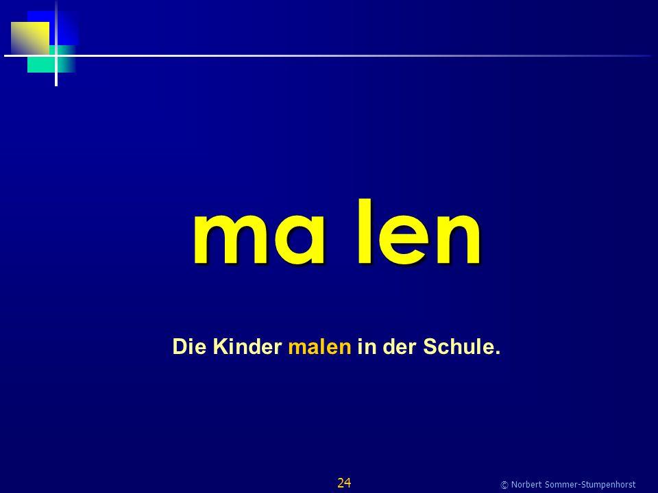 24 © Norbert Sommer-Stumpenhorst ma len Die Kinder malen in der Schule.