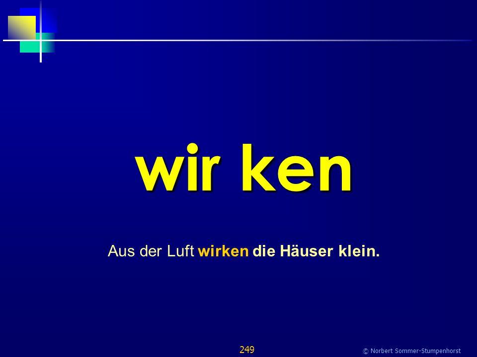 249 © Norbert Sommer-Stumpenhorst wir ken Aus der Luft wirken die Häuser klein.