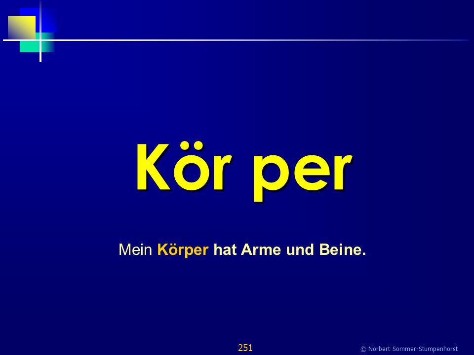 251 © Norbert Sommer-Stumpenhorst Kör per Mein Körper hat Arme und Beine.