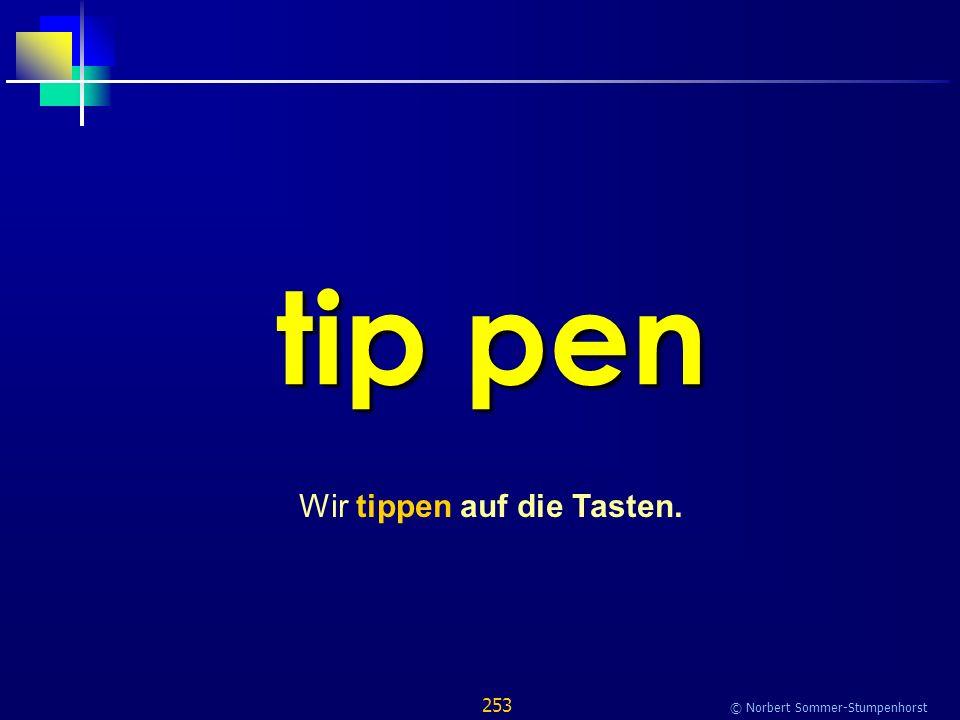 253 © Norbert Sommer-Stumpenhorst tip pen Wir tippen auf die Tasten.