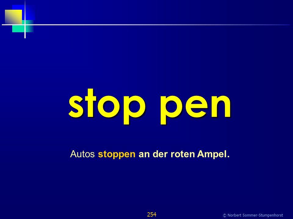 254 © Norbert Sommer-Stumpenhorst stop pen Autos stoppen an der roten Ampel.