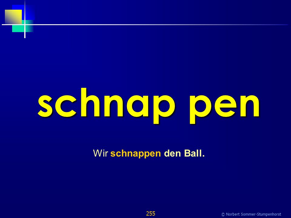255 © Norbert Sommer-Stumpenhorst schnap pen Wir schnappen den Ball.