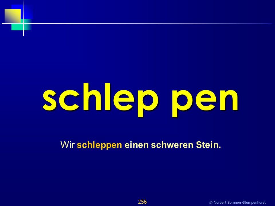 256 © Norbert Sommer-Stumpenhorst schlep pen Wir schleppen einen schweren Stein.