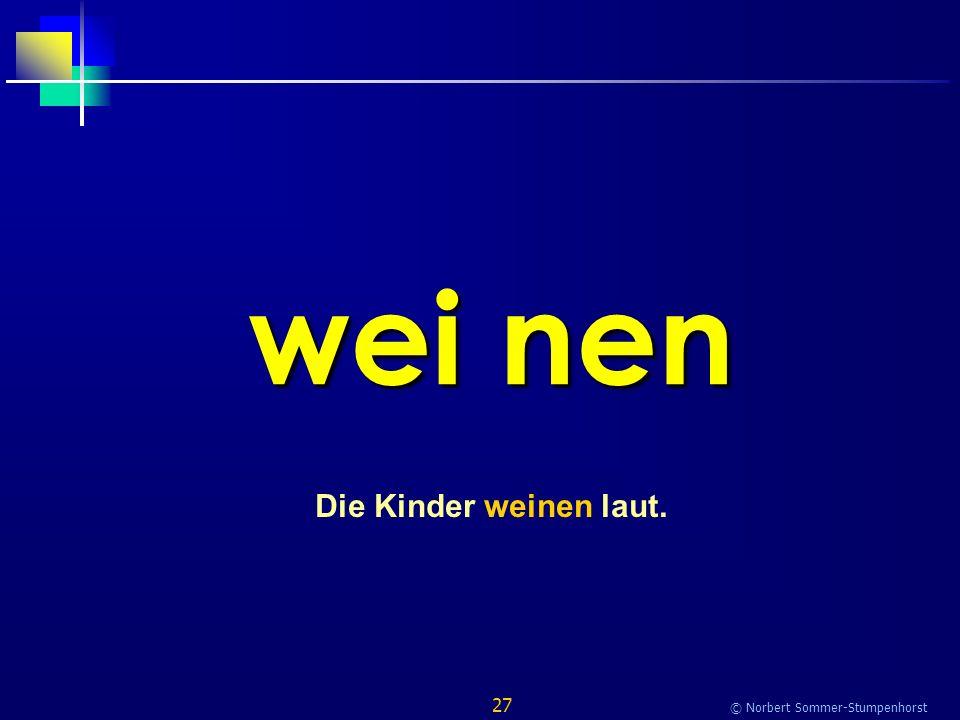 27 © Norbert Sommer-Stumpenhorst wei nen Die Kinder weinen laut.