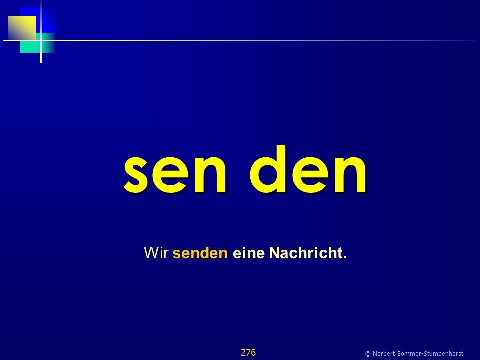 276 © Norbert Sommer-Stumpenhorst sen den Wir senden eine Nachricht.