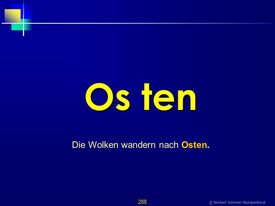 288 © Norbert Sommer-Stumpenhorst Os ten Die Wolken wandern nach Osten.