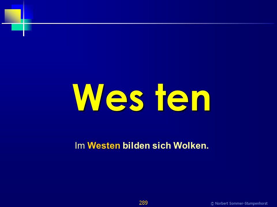 289 © Norbert Sommer-Stumpenhorst Wes ten Im Westen bilden sich Wolken.