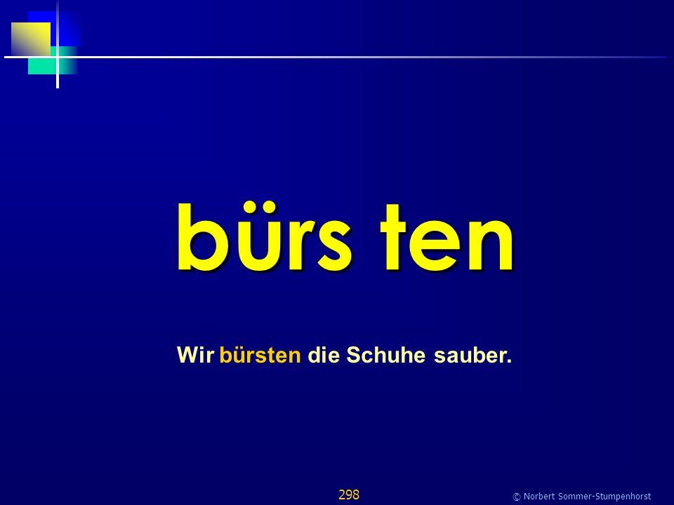298 © Norbert Sommer-Stumpenhorst bürs ten Wir bürsten die Schuhe sauber.
