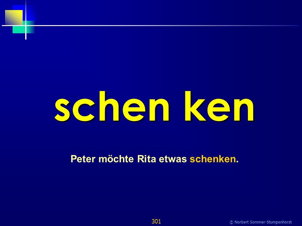 301 © Norbert Sommer-Stumpenhorst schen ken Peter möchte Rita etwas schenken.