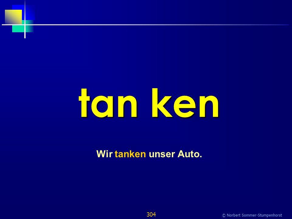 304 © Norbert Sommer-Stumpenhorst tan ken Wir tanken unser Auto.