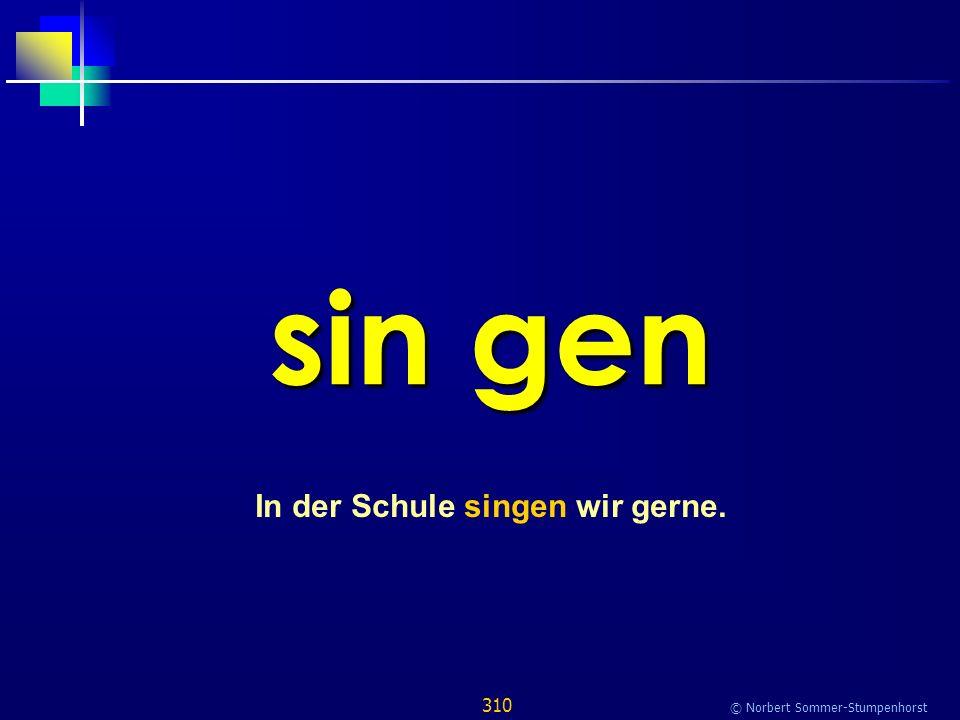 310 © Norbert Sommer-Stumpenhorst sin gen In der Schule singen wir gerne.