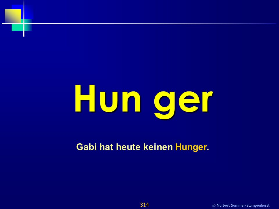 314 © Norbert Sommer-Stumpenhorst Hun ger Gabi hat heute keinen Hunger.