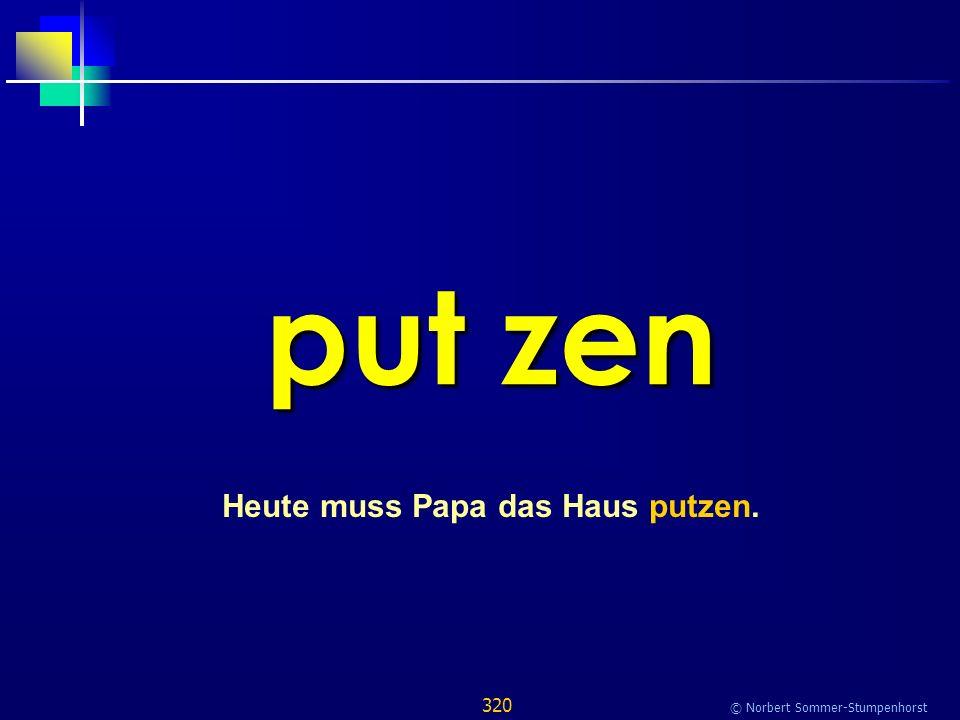 320 © Norbert Sommer-Stumpenhorst put zen Heute muss Papa das Haus putzen.
