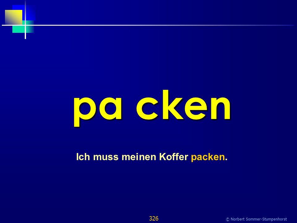 326 © Norbert Sommer-Stumpenhorst pa cken Ich muss meinen Koffer packen.