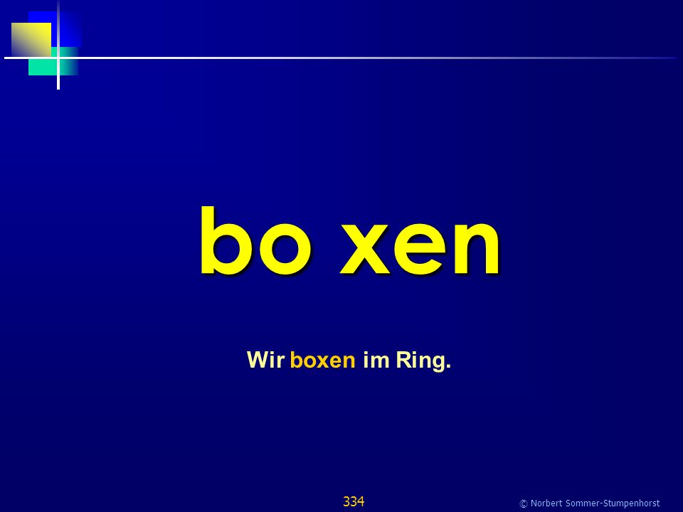 334 © Norbert Sommer-Stumpenhorst bo xen Wir boxen im Ring.