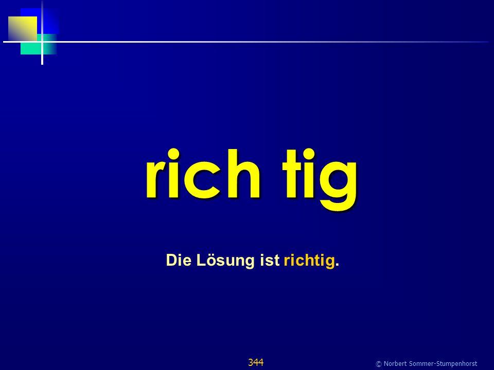 344 © Norbert Sommer-Stumpenhorst rich tig Die Lösung ist richtig.
