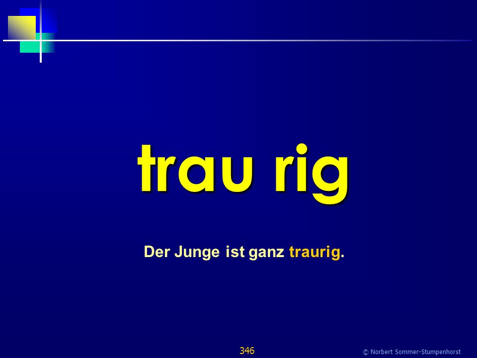 346 © Norbert Sommer-Stumpenhorst trau rig Der Junge ist ganz traurig.