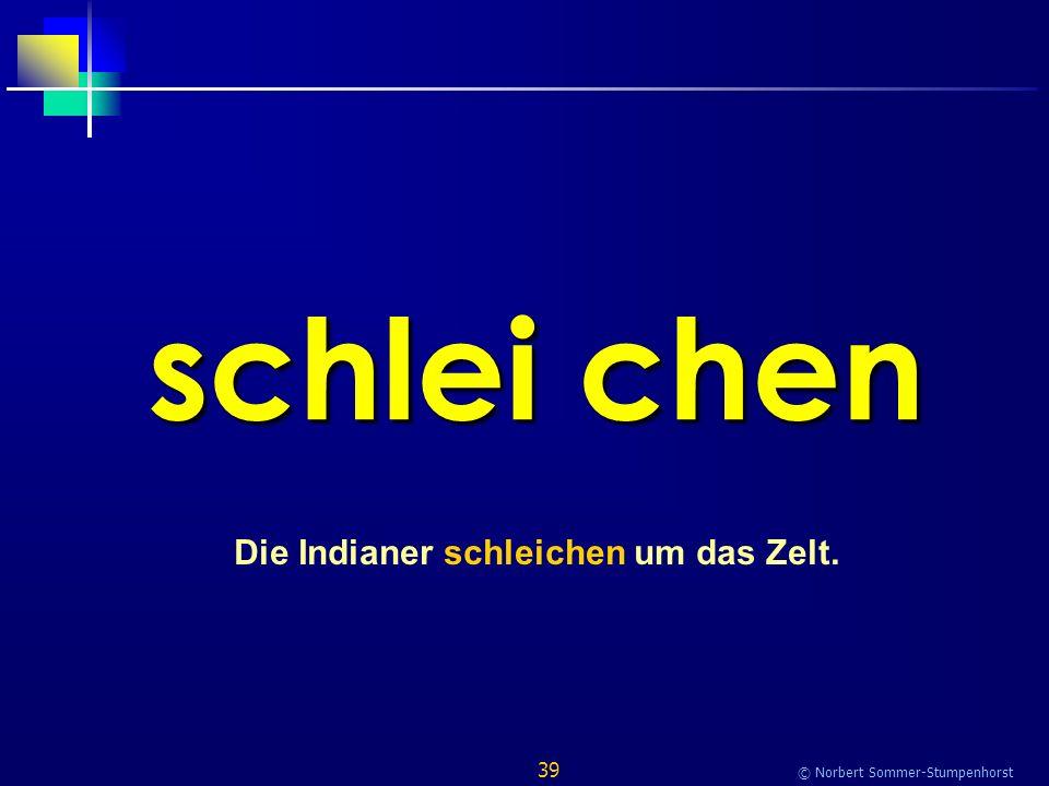 39 © Norbert Sommer-Stumpenhorst schlei chen Die Indianer schleichen um das Zelt.