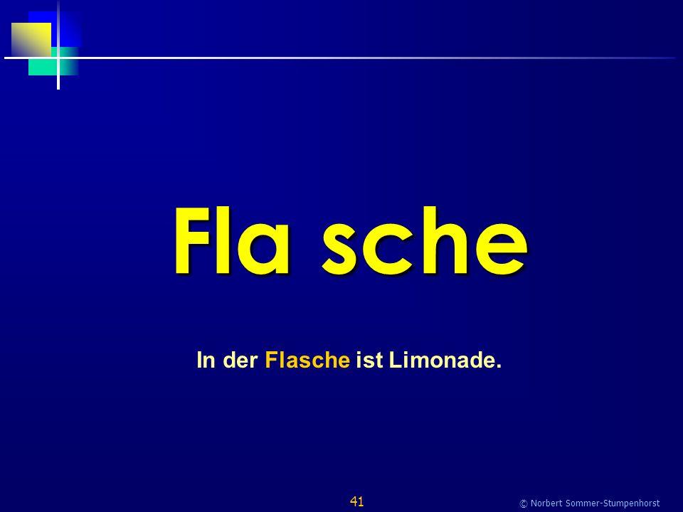41 © Norbert Sommer-Stumpenhorst Fla sche In der Flasche ist Limonade.