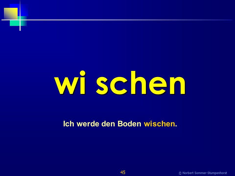 45 © Norbert Sommer-Stumpenhorst wi schen Ich werde den Boden wischen.